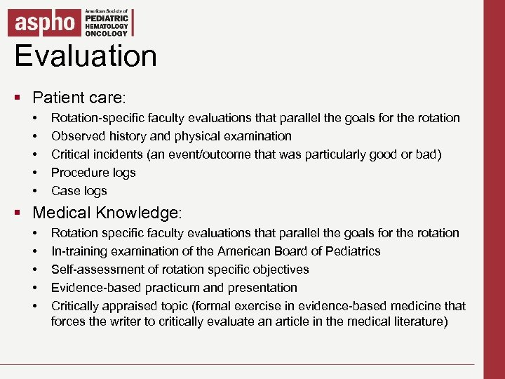 Evaluation Click to edit Master title style § Patient care: § Click to edit