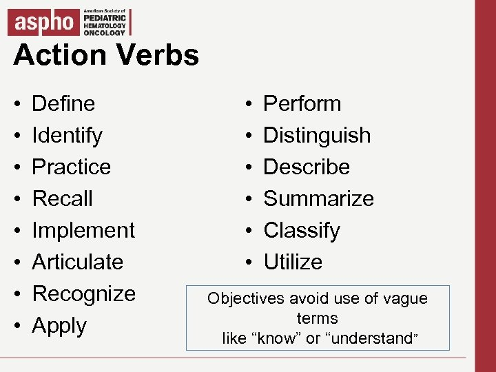 Action Verbs Click to edit Master title style § • • Click Defineto edit