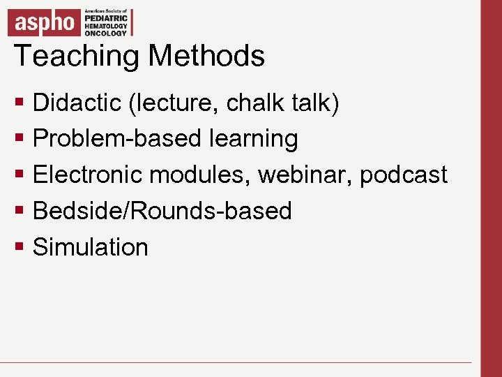 Teaching Methods Click to edit Master title style § Click to edit Master texttalk)