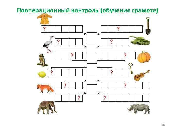 Пооперационный контроль (обучение грамоте) 26