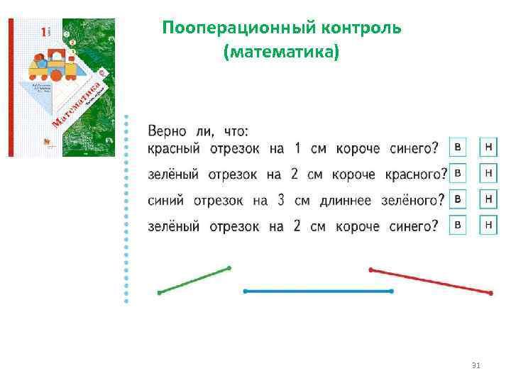 Пооперационный контроль (математика) 31