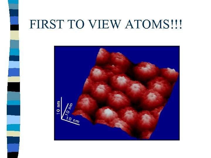 FIRST TO VIEW ATOMS!!!
