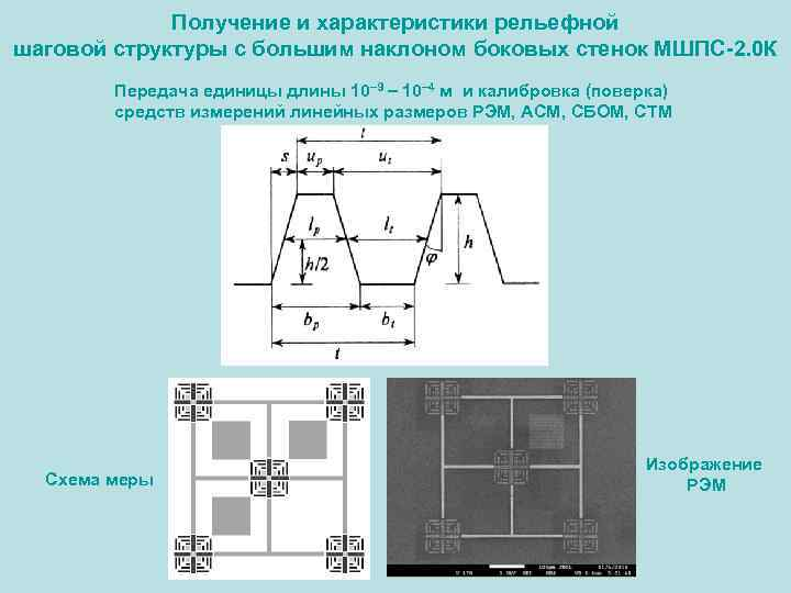 Получение и характеристики рельефной шаговой структуры с большим наклоном боковых стенок МШПС-2. 0 К