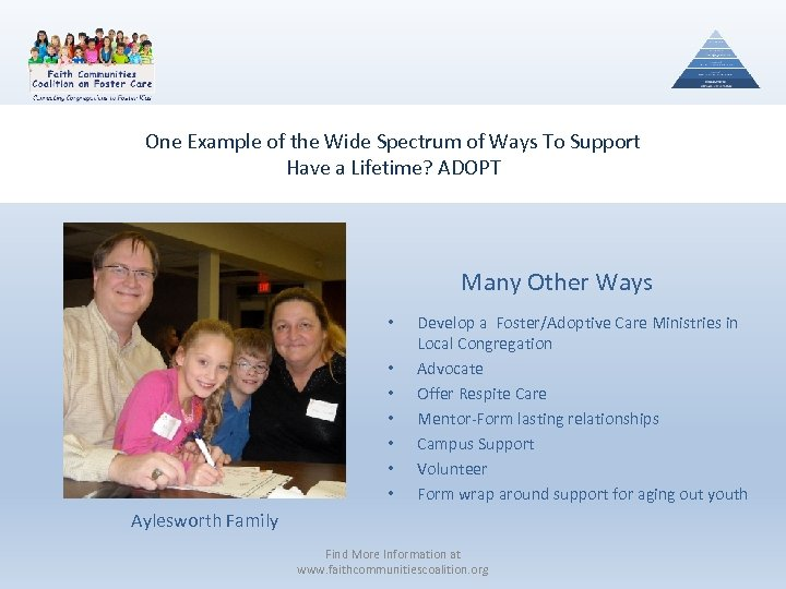 One Example of the Wide Spectrum of Ways To Support Have a Lifetime? ADOPT
