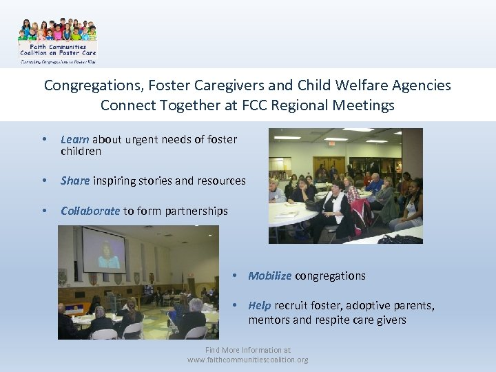 Congregations, Foster Caregivers and Child Welfare Agencies Connect Together at FCC Regional Meetings •