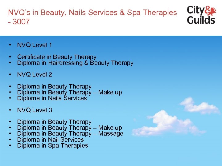 NVQ's in Beauty, Nails Services & Spa Therapies - 3007 • NVQ Level 1