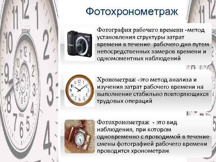 Хронометраж в картинках