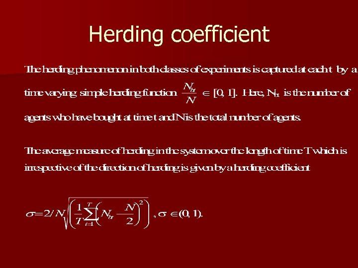 Herding coefficient