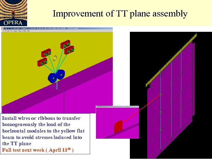 Improvement of TT plane assembly Install wires or ribbons to transfer homogeneously the load