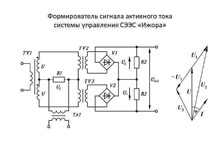 Формирователь сигнала активного тока системы управления СЭЭС «Ижора»