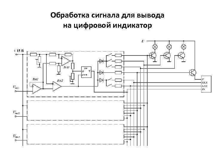 Обработка сигнала для вывода на цифровой индикатор