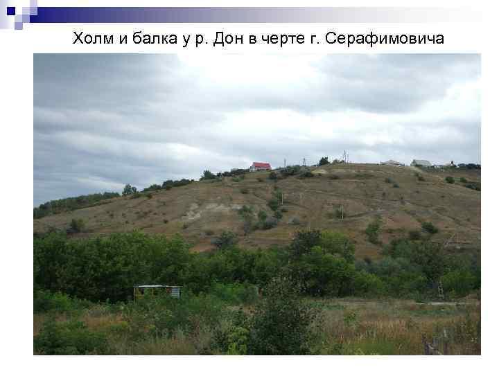 Холм и балка у р. Дон в черте г. Серафимовича