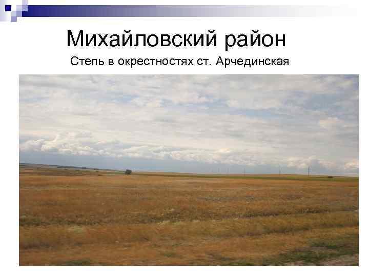 Михайловский район Степь в окрестностях ст. Арчединская