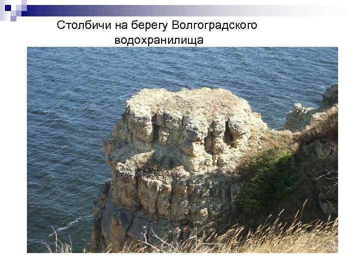 Столбичи на берегу Волгоградского водохранилища