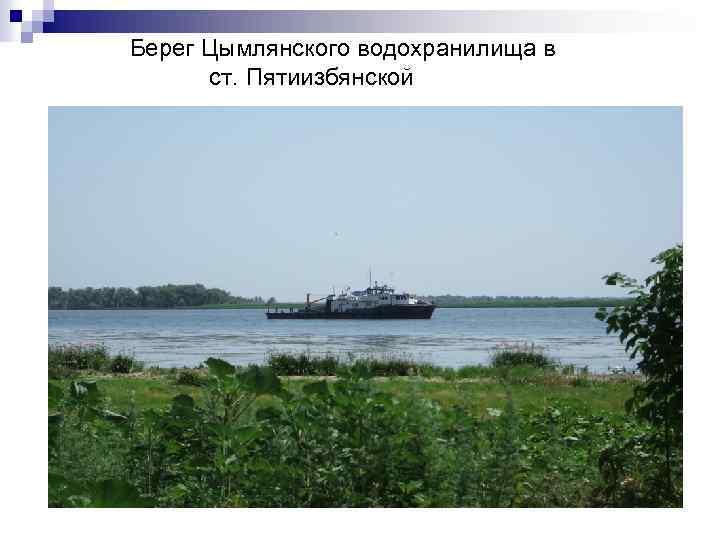 Берег Цымлянского водохранилища в ст. Пятиизбянской