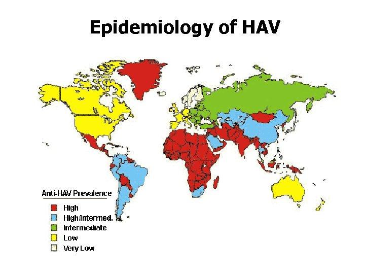 Epidemiology of HAV