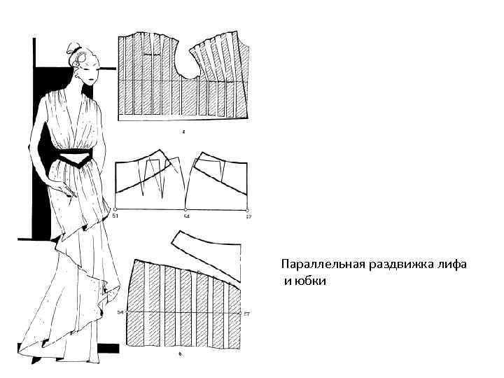 Параллельная раздвижка лифа и юбки