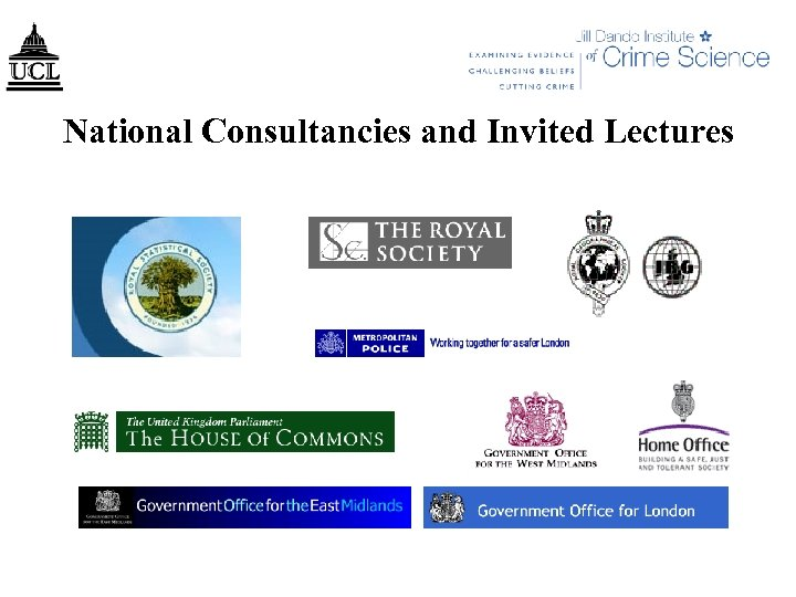 National Consultancies and Invited Lectures