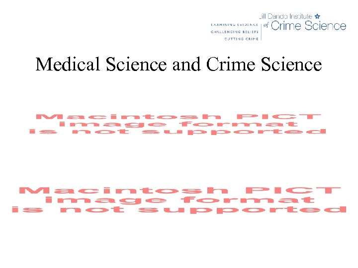 Medical Science and Crime Science