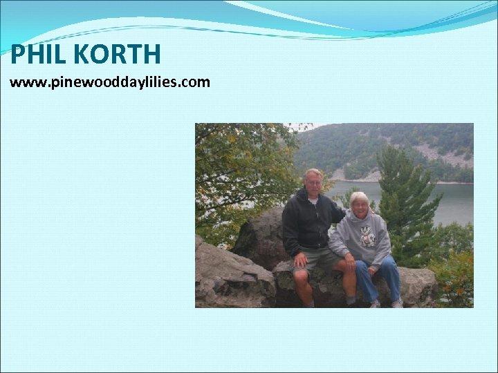 PHIL KORTH www. pinewooddaylilies. com