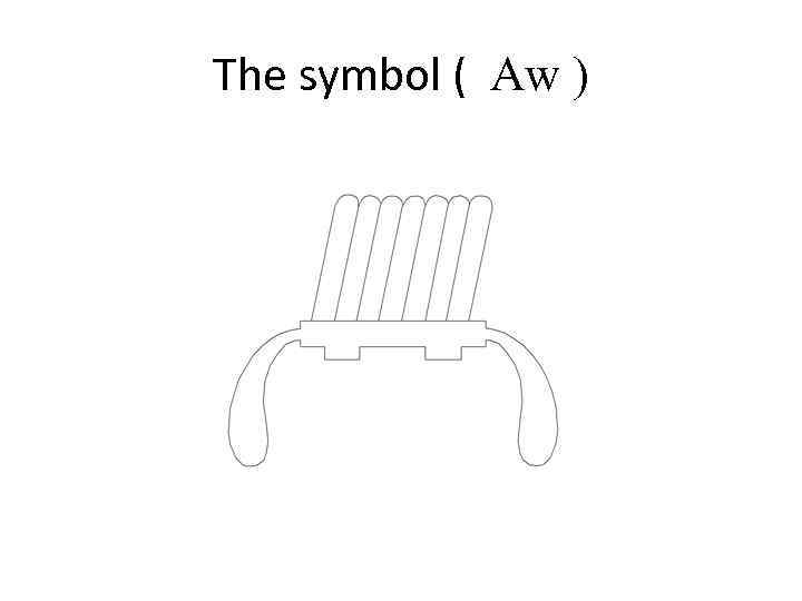 The symbol ( Aw )