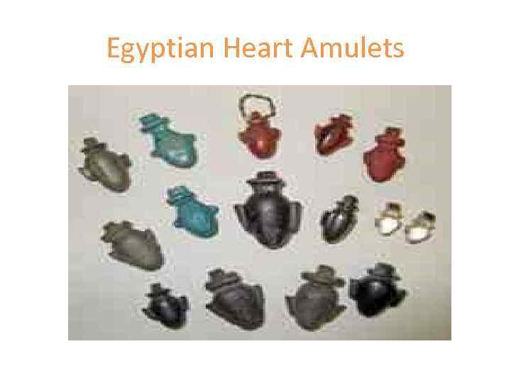 Egyptian Heart Amulets