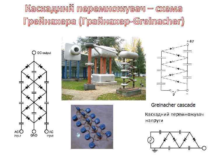 Каскадний перемножувач – схема Грейнахера (Грайнахер-Greinacher) Каскадний перемножувач напруги