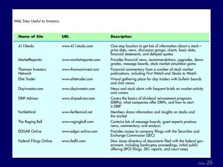 Table 8. 1 Slide 26