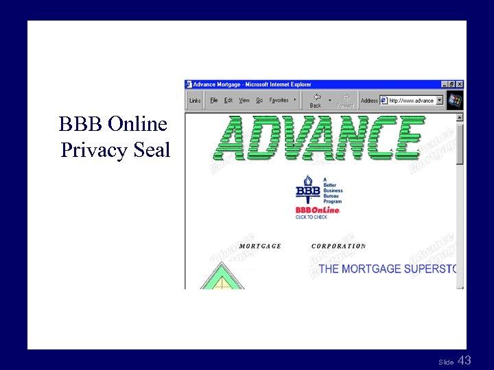 Fig 8. 9 BBB Online Privacy Seal Slide 43