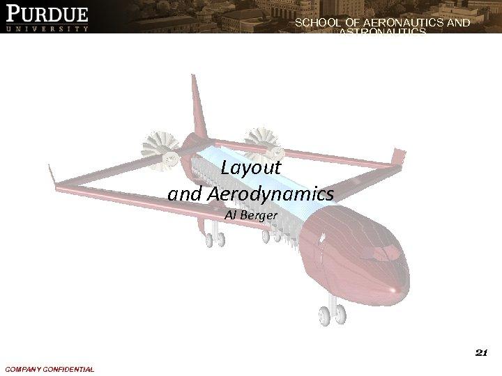 SCHOOL OF AERONAUTICS AND ASTRONAUTICS Layout and Aerodynamics AJ Berger 21 COMPANY CONFIDENTIAL