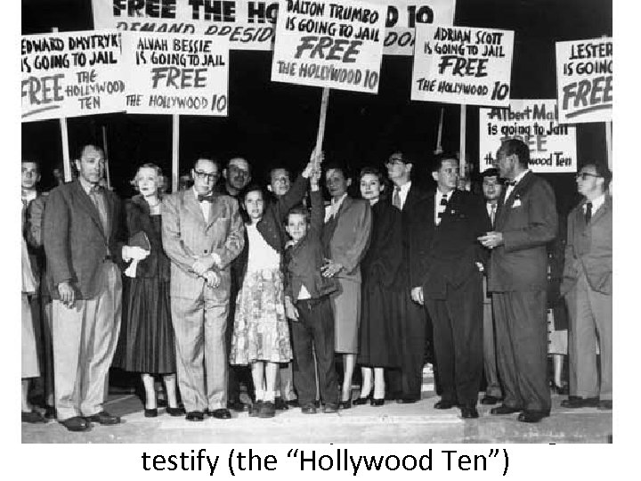 In 1947, numerous Hollywood writers & executives were investigated by HUAC; 500 were blacklisted