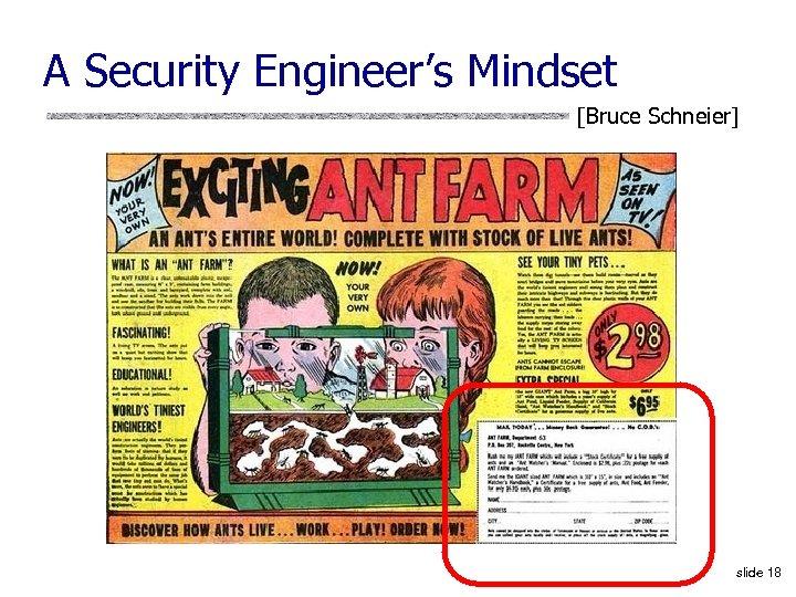 A Security Engineer's Mindset [Bruce Schneier] slide 18