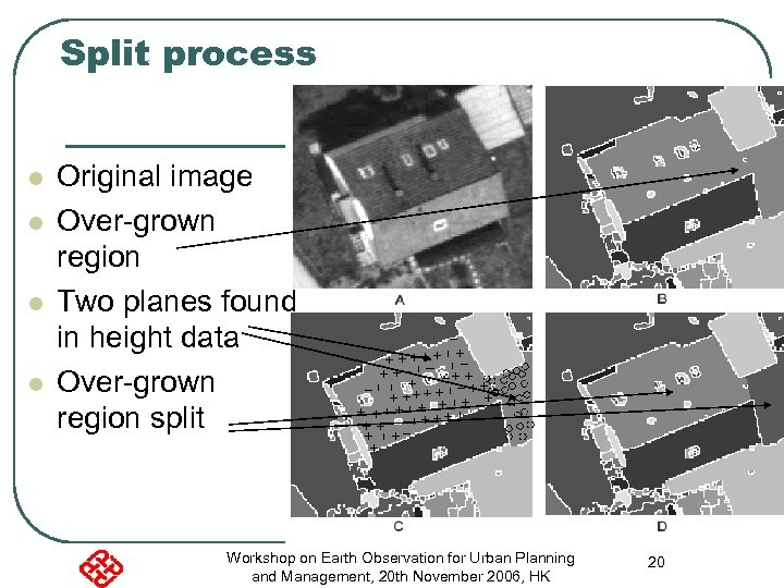 Split process l l Original image Over-grown region Two planes found in height data
