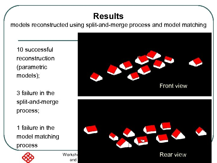 Results models reconstructed using split-and-merge process and model matching 10 successful reconstruction (parametric models);