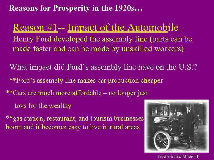a prosperous economy in the during twenties 3 the business of america: the economy in the 1920s the story of the 1920s is in large part a story about money after a few slow years at the start of the decade, money began to flow through many, though not all, people's hands.