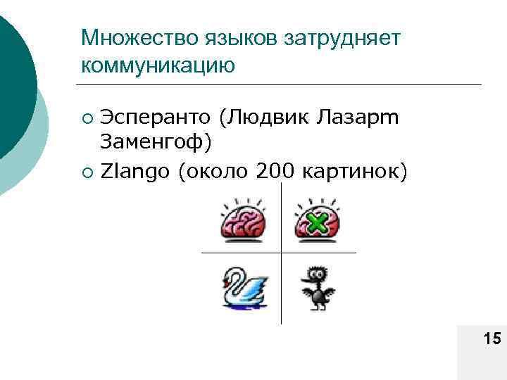 Множество языков затрудняет коммуникацию Эсперанто (Людвик Лазарm Заменгоф) ¡ Zlango (около 200 картинок) ¡