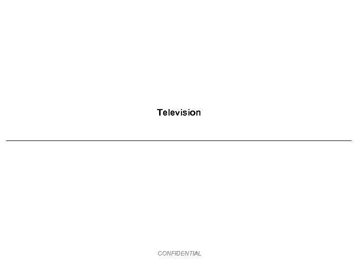 Television CONFIDENTIAL