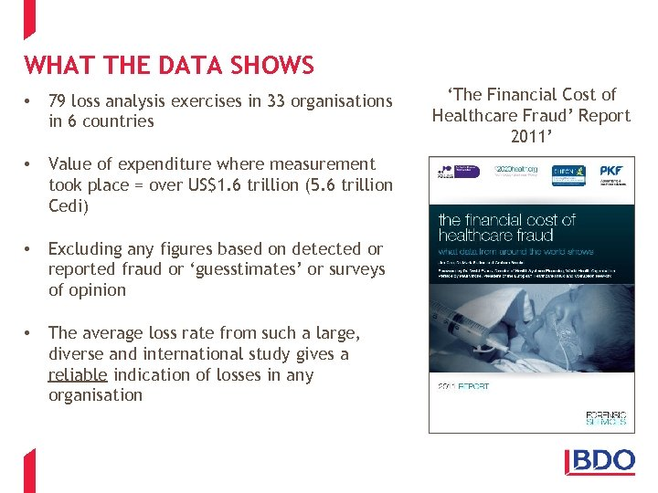WHAT THE DATA SHOWS • 79 loss analysis exercises in 33 organisations in 6