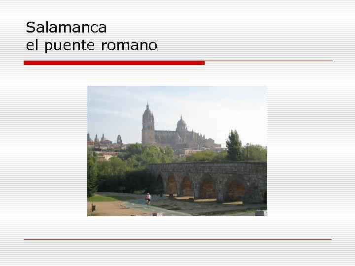 Salamanca el puente romano