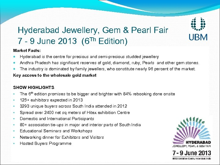 Hyderabad Jewellery, Gem & Pearl Fair 7 - 9 June 2013 (6 Th