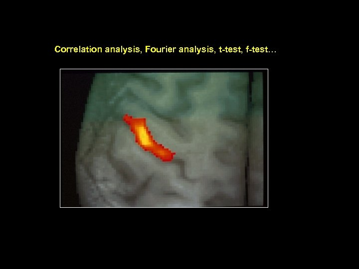 Correlation analysis, Fourier analysis, t-test, f-test…