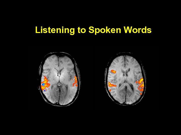 Listening to Spoken Words