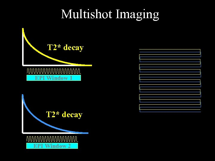Multishot Imaging T 2* decay EPI Window 1 T 2* decay EPI Window 2