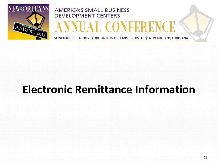 Electronic Remittance Information 32