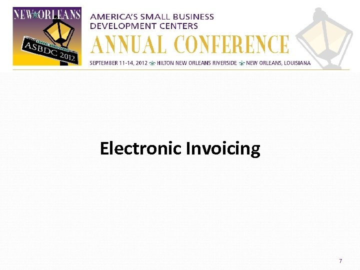 Electronic Invoicing 7