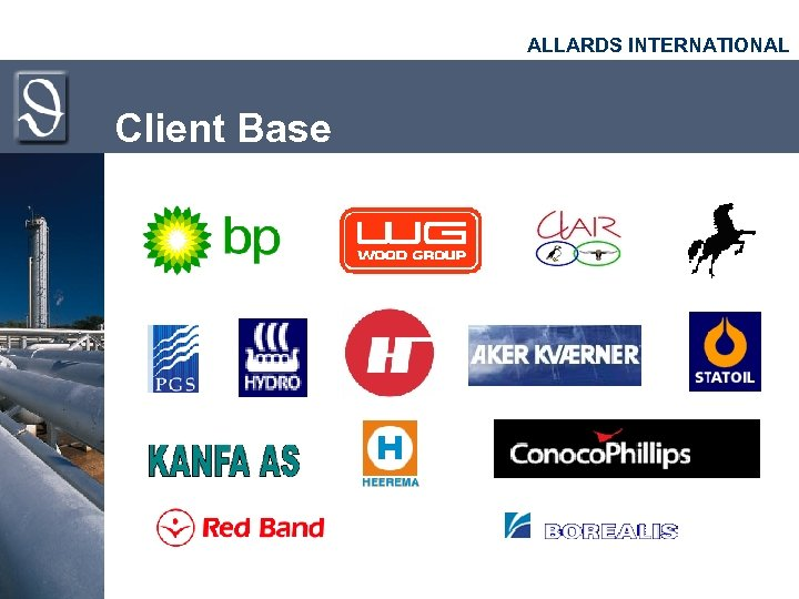 ALLARDS INTERNATIONAL Client Base