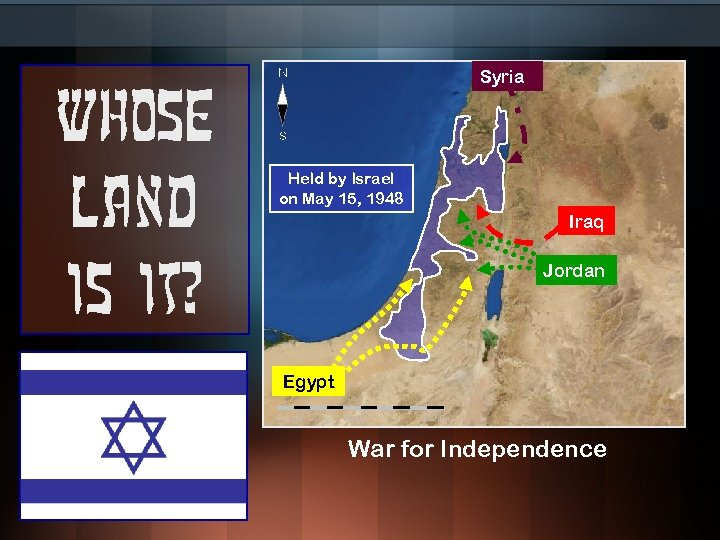 Whose land is it? Syria Held by Israel on May 15, 1948 Iraq Jordan
