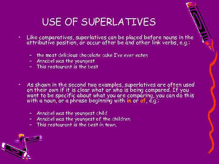 comparative and superlative adjectives some rules about