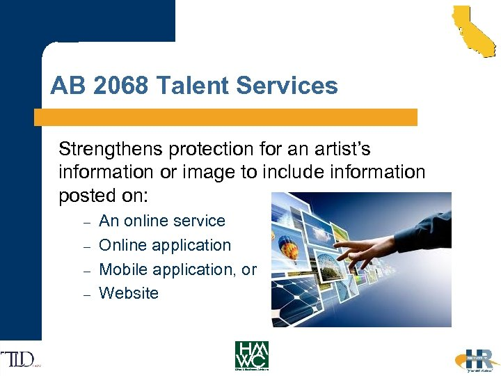 AB 2068 Talent Services Strengthens protection for an artist's information or image to include