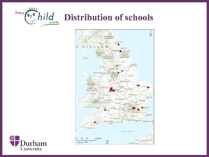 Distribution of schools ∂